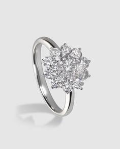 743c882f13d7 Anillo en oro blanco y diamantes El Corte Inglés Anillos De Oro Blanco