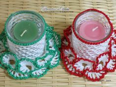 Crochet candle holder - free pattern