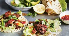 Wrap up these delicious beef schnitzel steak tortillas with zesty avocado salad. This recipe by Michelle Bridges works out at only 408 calories per serve.