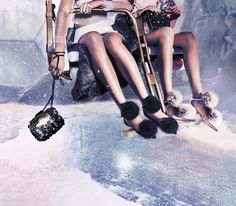 Gifts for her: The Jimmy Choo CANDY clutch, CLOUD clutch and LUCY FLAT