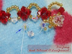 Tutorial : Crystal Bracelet #3 Level : Intermediate to Advance Warning : Heavy pictures under cut The design belongs to Rainbow Art . I saw this bracelet both from their website and at their shop. Very stunning beautiful! After take a look at it many times, I figure out how to do it. My mother's…