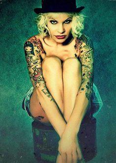 Tattoo Model - Sandy P. Peng - http://worldtattoosgallery.com/tattoo-model-sandy-p-peng-7/