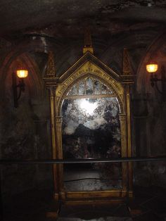 Inside Hogwarts School for Witchcraft and Wizardry, Universal Studios Florida. What a trip! This is the Mirror of Erised.
