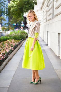 Mary Kate of Teen Vogue in the silk faille full skirt. Tibi's 25 Best Dressed of 2012: Re-Pin To Win Sweepstakes, enter here: http://www.tibi.com/blog/2012/12/17/re-pin-to-win-sweepstakes/