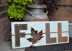 Celebrate and decorate for the cooler temps and changing leafs of Fall with a DIY wooden fall sign, full tutorial and plans.