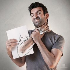 The Sketch of a Life, Artist Combines Photography And Drawing To Create Amazing Self-Portraits