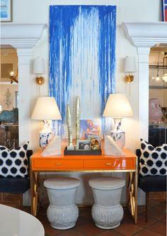 Very smart Palm Beach vignette #interiordesign #home #decor #summer #Mecox