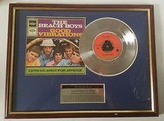 The Beach Boys Good Vibrations Platinum Disc Fab Cool Stuff