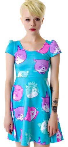 Dapper Cat Cap Dress