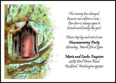 House Warming New House Invitations