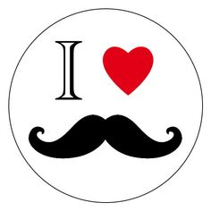 mustache party stickers