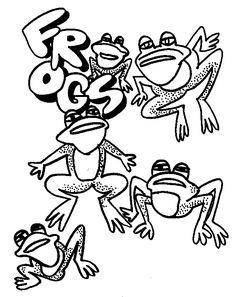 Torah Tots Parsha on Parade - Vaera - frogs2.htm Coloring page