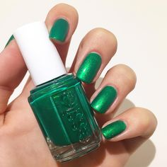 This electrifying emerald green comes to the fashion rescue -- what a lifesaver! 'all hands on deck' from the essie Shimmer Brights Collection.