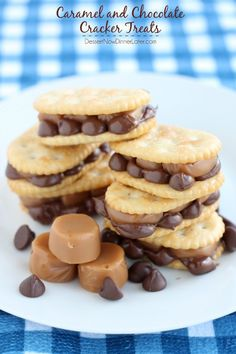 Caramel and Chocolate Cracker Treats.  Only three ingredients.  Maybe good to take for picnics or potluck?
