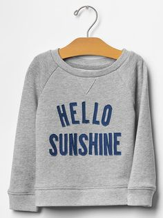 9b6e5607 Sunshine sweatshirt | Gap Baby Time, Baby Gap, Summer Girls, Kids Outfits,