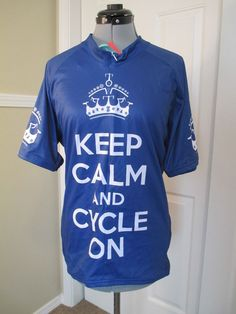 Scudo Pro Cycling Jersey Men's 3X Club Fit New Kep Calm Cycle on #ScudoSportsWearLLC