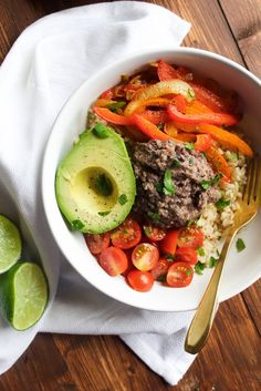 Southwestern Veggie Bowl with Black Bean Hummus.