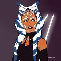Star Wars Rebels, Star Wars Clone Wars, Ashoka Star Wars, Asoka Tano, Jedi Knight, Star Wars Fan Art, Galaxy Art, Star Wars Collection, Star Girl
