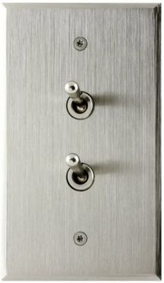 Light switch / lever / stainless steel / contemporary ACIER BROSSÉ 70*120 - 2 BOUTONS 6ixtes PARIS