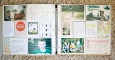 Instead of adding photos, use those spaces for journaling....like Marcy did with the girl's weekend insert.  Great idea for when you don't have a photo but want to remember an event. #marcypenner