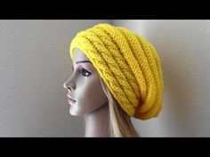 How To Knit A Slouchy Cable Beehive, Lilu's Knitting Corner Video # 60 - YouTube