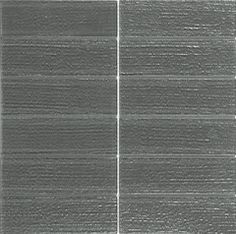 "Arcadia 2"" x 6"" Charcoal - Stacked Glass Mesh Mount Tile -  $9.79 sq.ft - Free Shipping!"