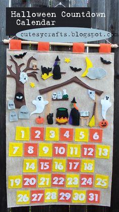 Halloween Countdown Calendar from @Jess Liu Myrup