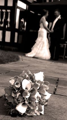 Bride and Groom ,Worsley Court House,Manchester by Becky C Wade