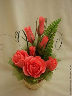 Букеты ручной работы. Ярмарка Мастеров - ручная работа Букет из конфет-мини розы. Handmade.