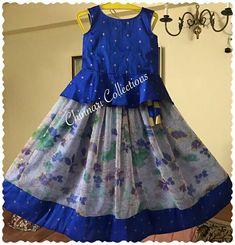 Girls Frock Design, Kids Frocks Design, Baby Frocks Designs, Baby Dress Design, Baby Girl Frocks, Frocks For Girls, Dresses Kids Girl, Kids Dress Wear, Kids Gown