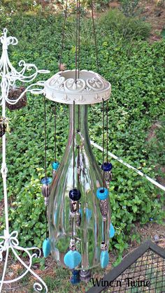 New post on diy-and-crafts-awesomeness crafts diy wind chimes DIY and Crafts Awesomeness Wine Bottle Chimes, Glass Bottle Crafts, Wine Bottle Art, Wine Bottles, Recycled Bottles, Recycled Glass, Diy Wind Chimes, Shell Wind Chimes, Deco Boheme