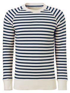 JOHN LEWIS & Co. Raglan Stripe Sweatshirt, Navy    $63 from John Lewis & Co.