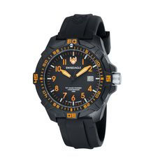 Ever Brite Black/Orange Watch.