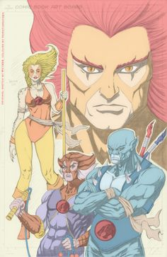 Thundercats retro coloured art