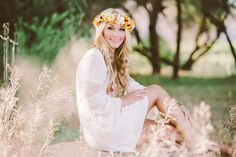 chandler high school senior | senior portraits | arizona senior portraits | flower child | floral crown.