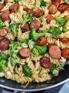21 Day Fix Pasta with Broccoli & Chicken Sausage
