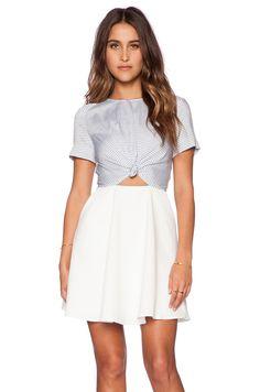 Line & Dot Wonder Tied Dress in Tiny Stripe Melody | REVOLVE