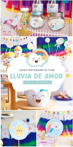 Kit imprimible para fiestas - lluvia de amor #lluviadeamor #partyideas#printable#partyprintable#etsyprintables#party#partying#partystyling#mypartystyle #partyplanner#partydecor#partyideasgroup#kidsparties#partyideasforkids#kidsparty#birthdayparties#partykids#partyinspiration#partydecoration#partydesigner#partyprintables#diypartydecor#birthdaypartyideas#ideasdedecoracion#fiesta#fiestasinfantiles Baby Shower Venues, Baby Shower Cakes, Baby Shower Themes, Cheap Baby Shower, Elegant Baby Shower, Baby Shower Invitation Wording, Baby Presents, Diy Party Decorations, Party Printables