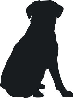 dog silhouette | Sitting Dog Silhouette Labrador retriever sit dog More