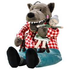 LUFSIG Soft toy - IKEA - I got this for Angus. Best toy ever for kids who have bad dreams about wolves but are obsessed with wolf fairy tales! That's my boy! Re-enacting granny & the three little pigs deaths over and over and over..