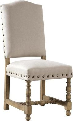 Dining Chairs Chair FURNITURE CLASSICS MADRID Mission Pair Linen Oak New FC-456