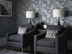 grey albany symphony accent wall living hallway kitchen neutral wallpaperdirect leaf designs performance