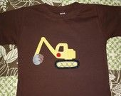 For William? Great Birthday Digger Chocolate SHORT SLEEVE
