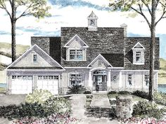 eplans colonial house plan waterfront or view lot 2410 square feet and 3 bedrooms - Colonial Lake House Plans
