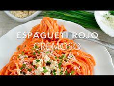 Espagueti rojo cremoso (fácil y listo en minutos)