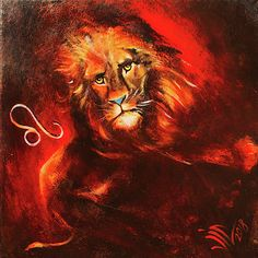 Lion Zodiac sign created by Vali Irina Ciobanu Featured Art, Fantasy Artwork, Wall Art, Sign Art, Amazing Art, Anatomy Art, Painting Leather, Painting, Cool Art