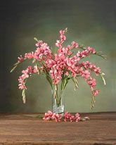 Silk Gladiolus Flower Stems | Artificial Single Stem Pieces for Arrangements & Centerpieces