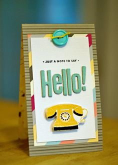 Hello! card AC with ZING embossing powder