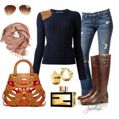 Fall Outfits by izabellaml on Polyvore featuring Ralph Lauren Blue Label, Tory Burch, Blue Nile, Object Collectors Item, Rut&Circle, Fendi, 7 For All Mankind and Bally