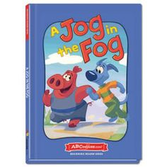 A Jog in the Fog - Hardcover book from ABCmouse.com. 4 years & up, 40 pages.  When a dog and a hog go for a jog, they meet a helpful frog who helps them find their way home through the fog! As young children read A Jog in the Fog, they will have fun while learning simple words in the –og word family. This delightful book from ABCmouse.com features a clever rhyming story to engage emerging readers and help them recognize spelling patterns. It also contains many important sight words.